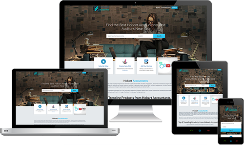 Hobart Accountants displayed beautifully on multiple devices